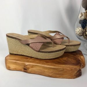 Lucky Brand Wedge Thong Sandals